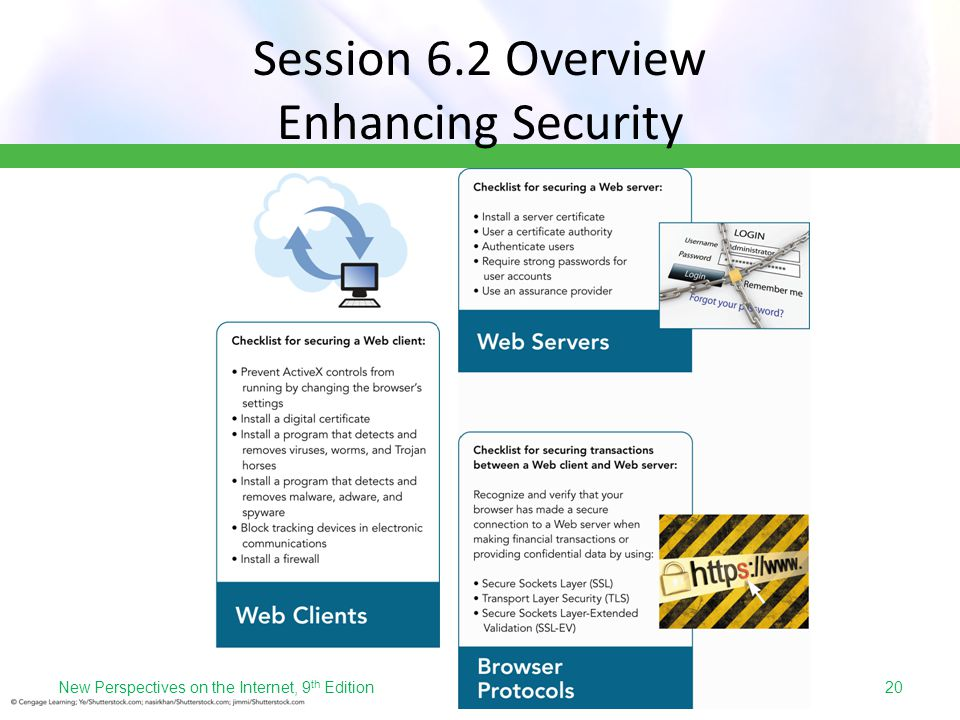 Session 6.2 Overview Enhancing Security