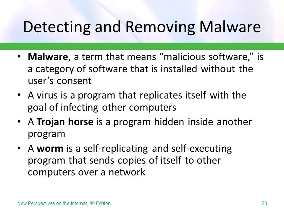 Detecting and Removing Malware