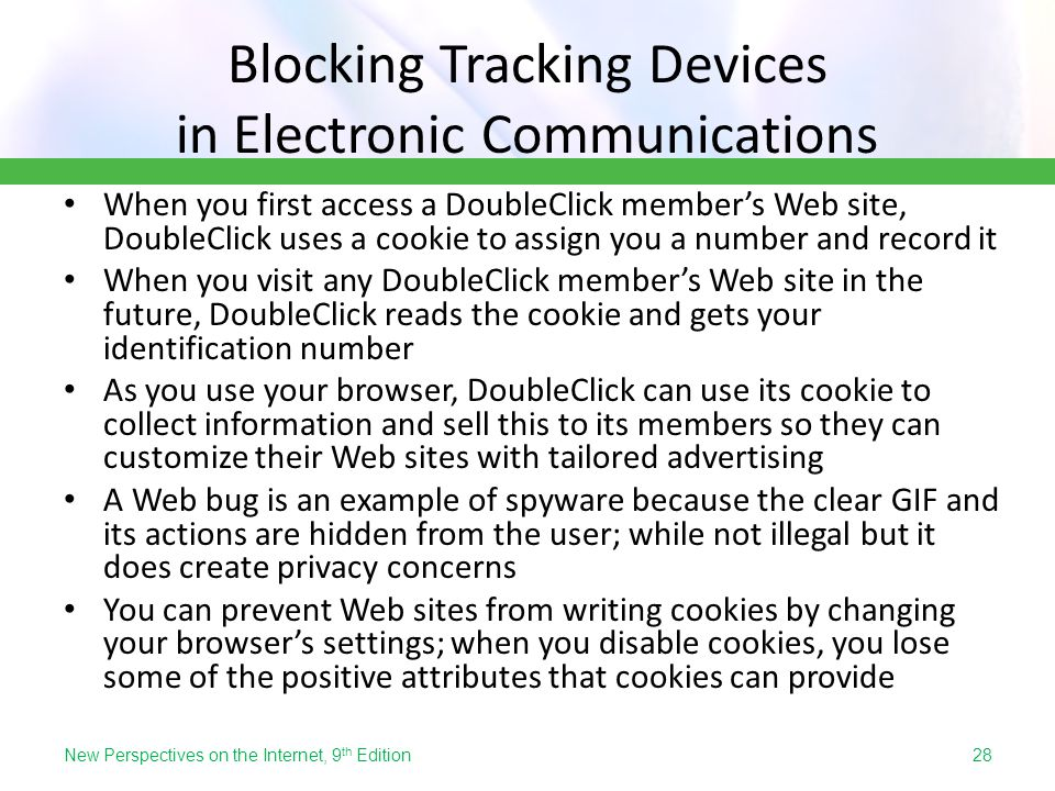 Blocking Tracking Devices in Electronic Communications