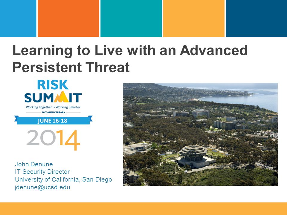 Learning to Live with an Advanced Persistent Threat