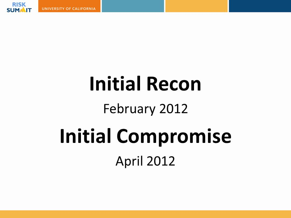 Initial Recon Initial Compromise