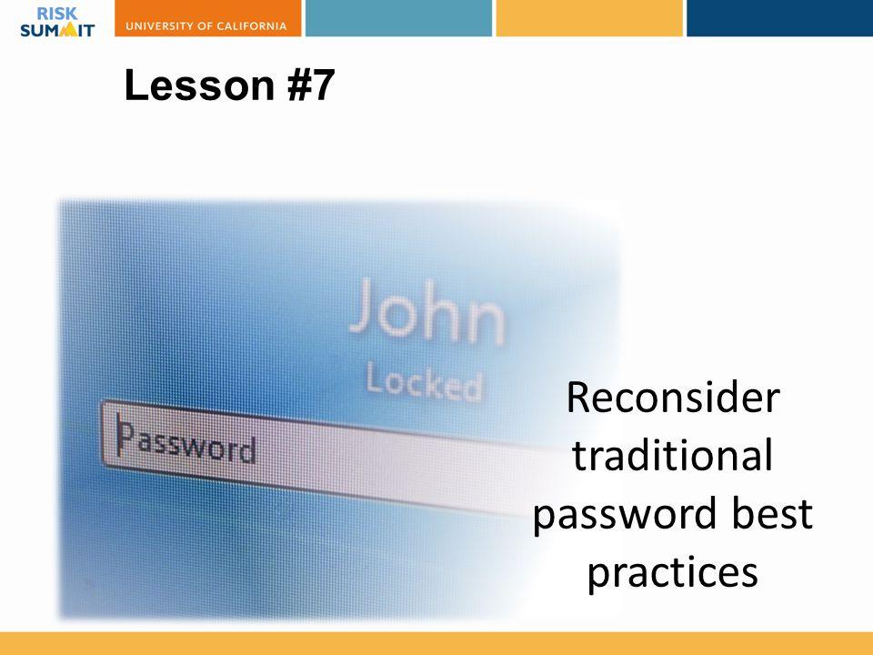Reconsider traditional password best practices