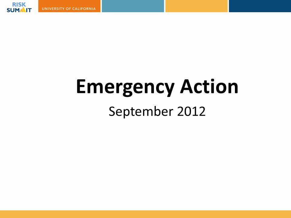 Emergency Action September 2012