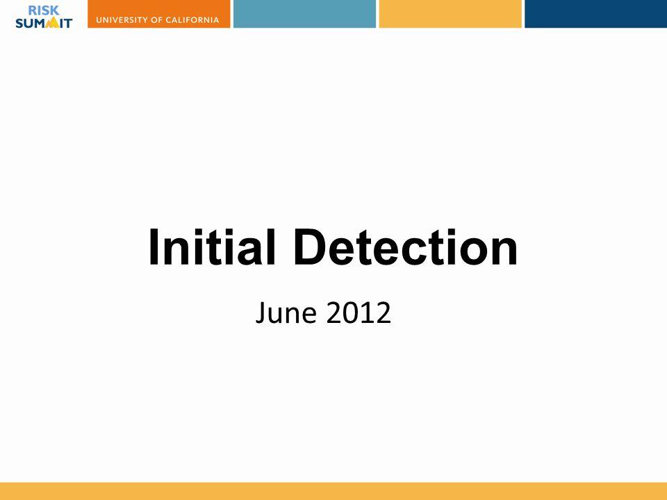 Initial Detection June 2012 Got lucky AV alert on ACT server.