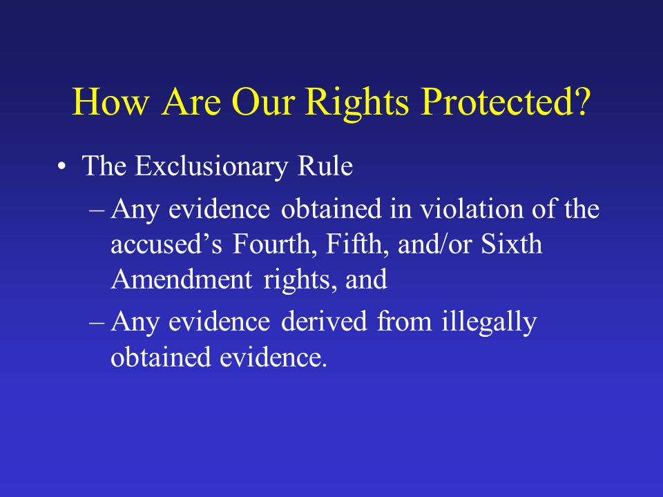 How Are Our Rights Protected