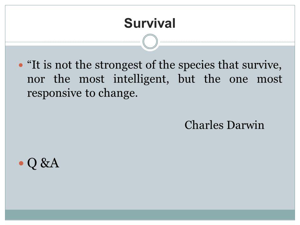 Survival Q &A Charles Darwin