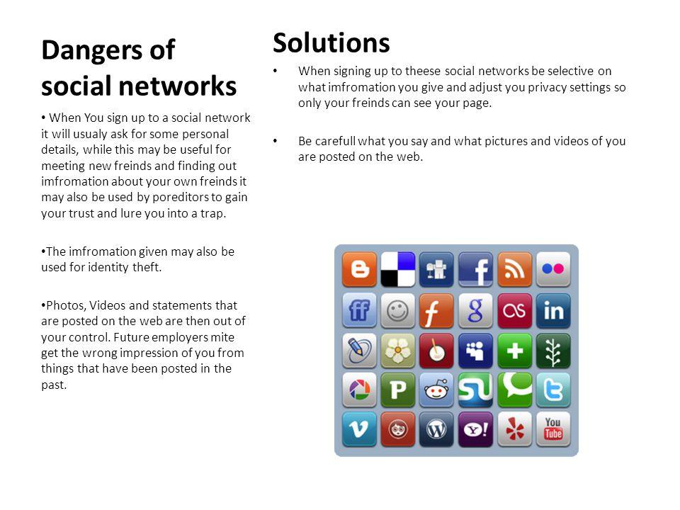Dangers of social networks