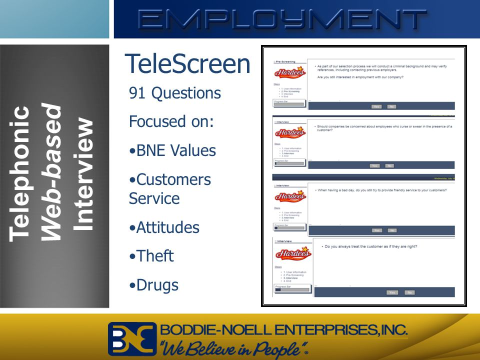 Telephonic Web-based Interview