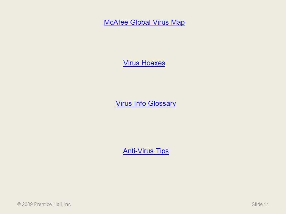 McAfee Global Virus Map
