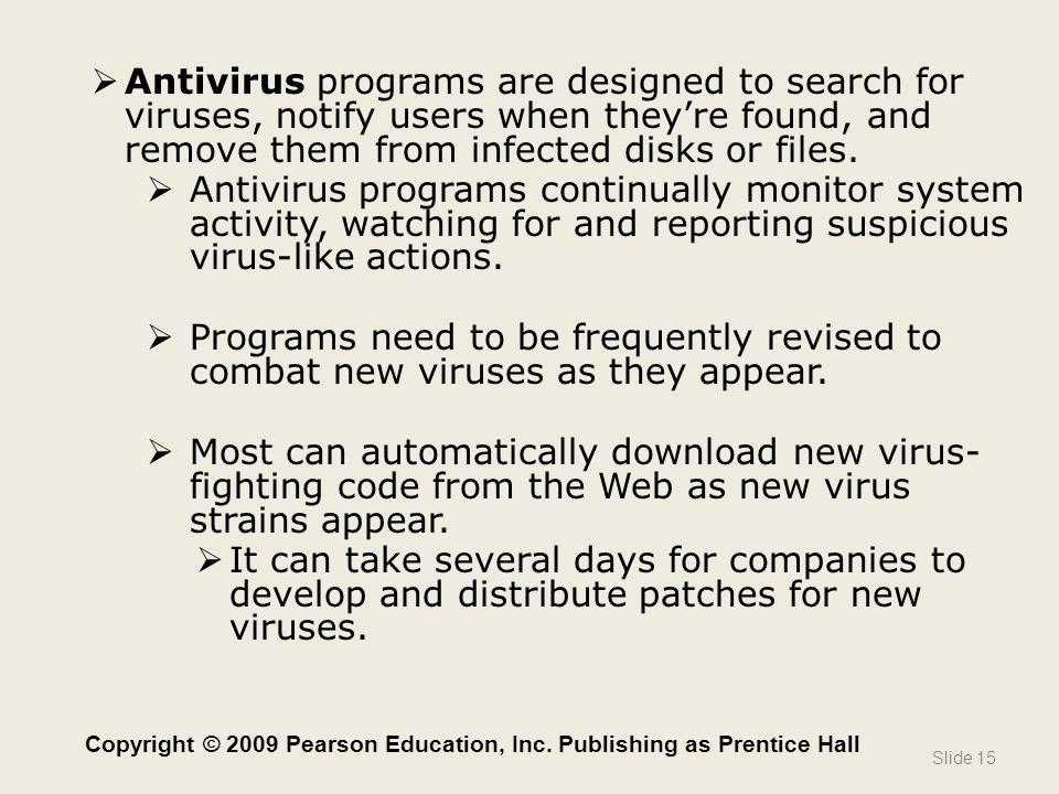 Copyright © 2009 Pearson Education, Inc. Publishing as Prentice Hall