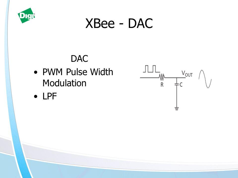 XBee - DAC DAC PWM Pulse Width Modulation LPF