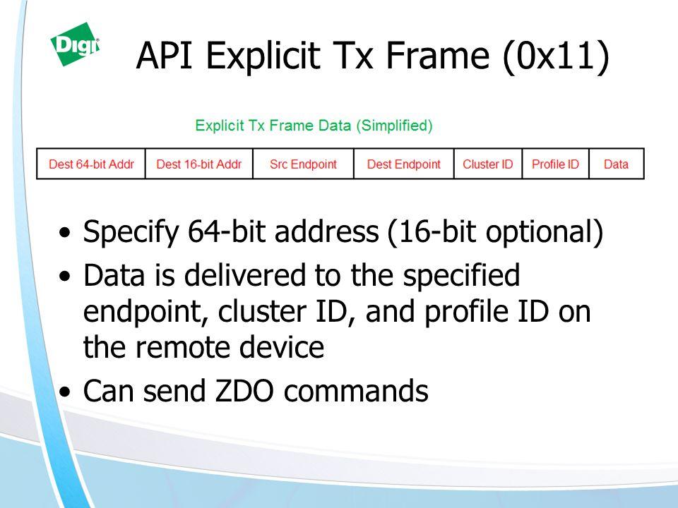API Explicit Tx Frame (0x11)