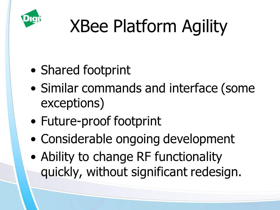XBee Platform Agility Shared footprint