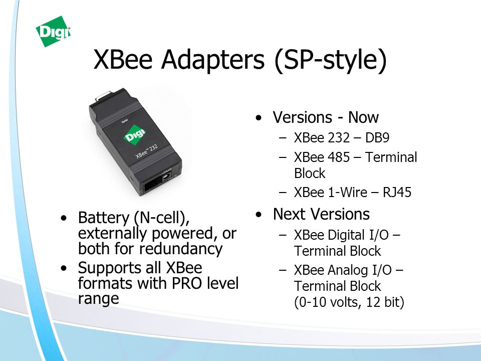 XBee Adapters (SP-style)