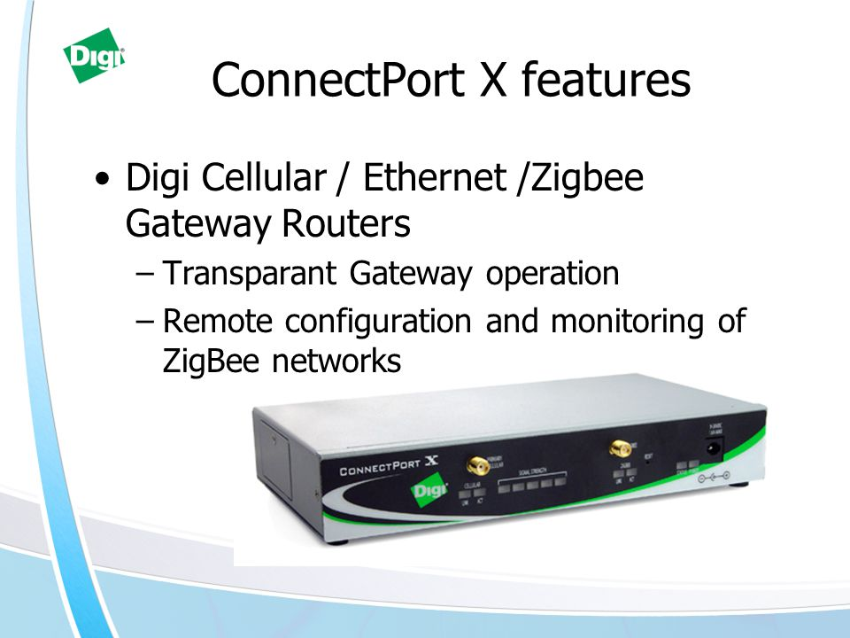 ConnectPort X features