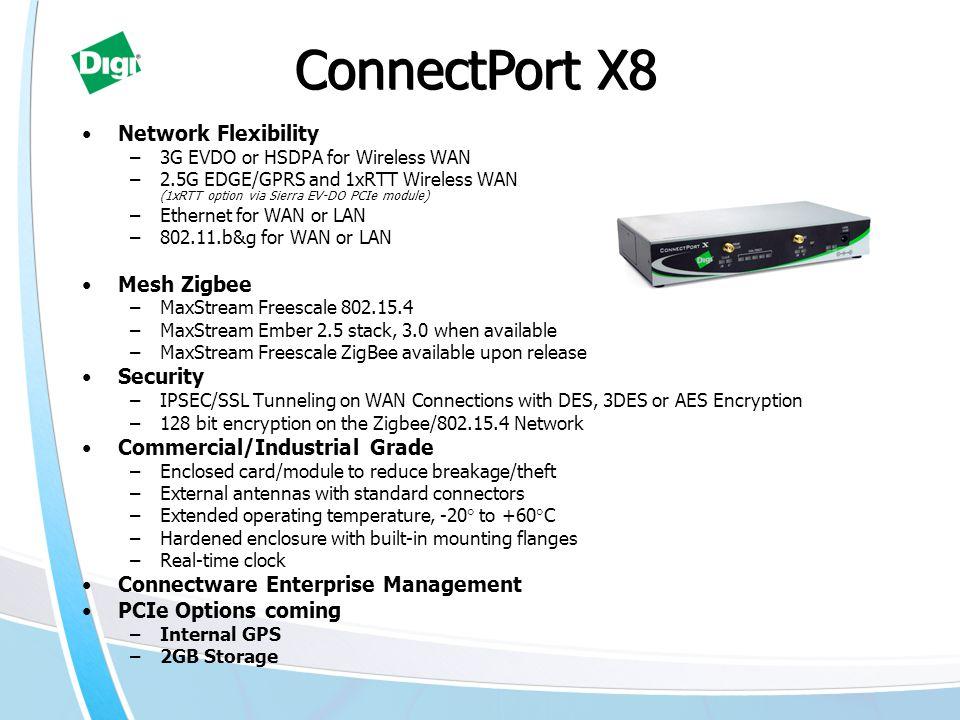 ConnectPort X8 Network Flexibility Mesh Zigbee Security