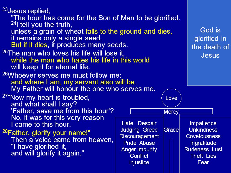 God is glorified in the death of Jesus