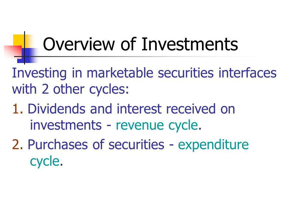 Overview of Investments