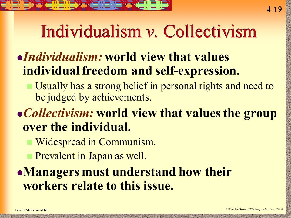 Individualism v. Collectivism