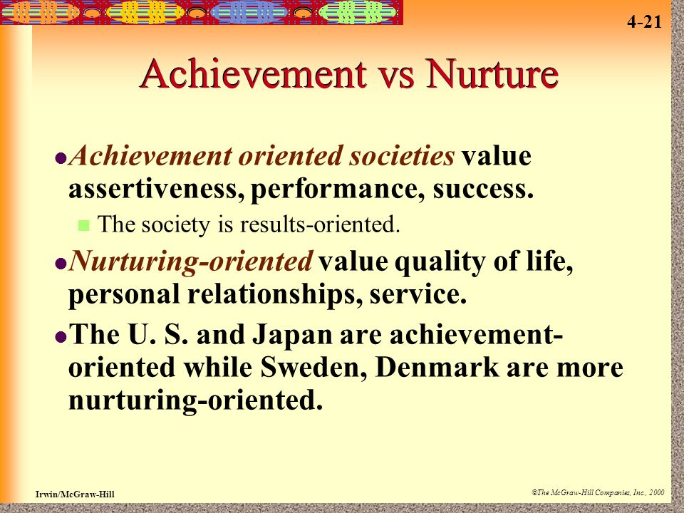 Achievement vs Nurture