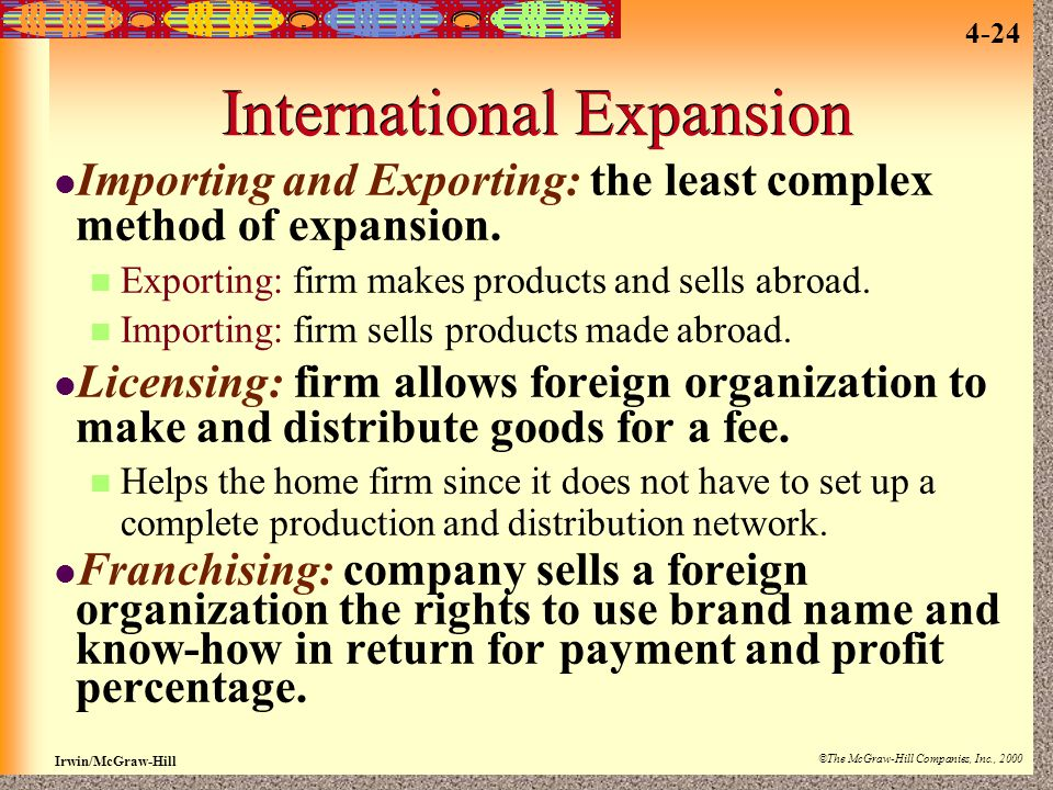 International Expansion