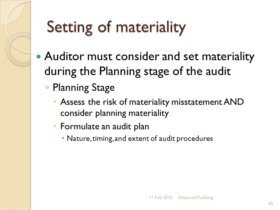 audit risk and materiality inverse relationship