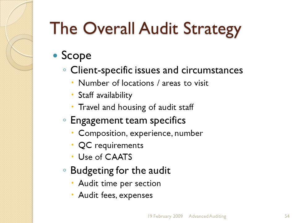 The Overall Audit Strategy