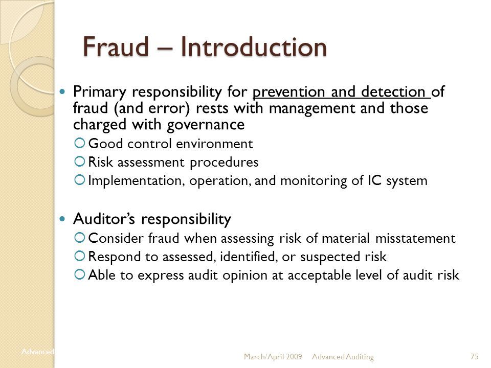 Fraud – Introduction