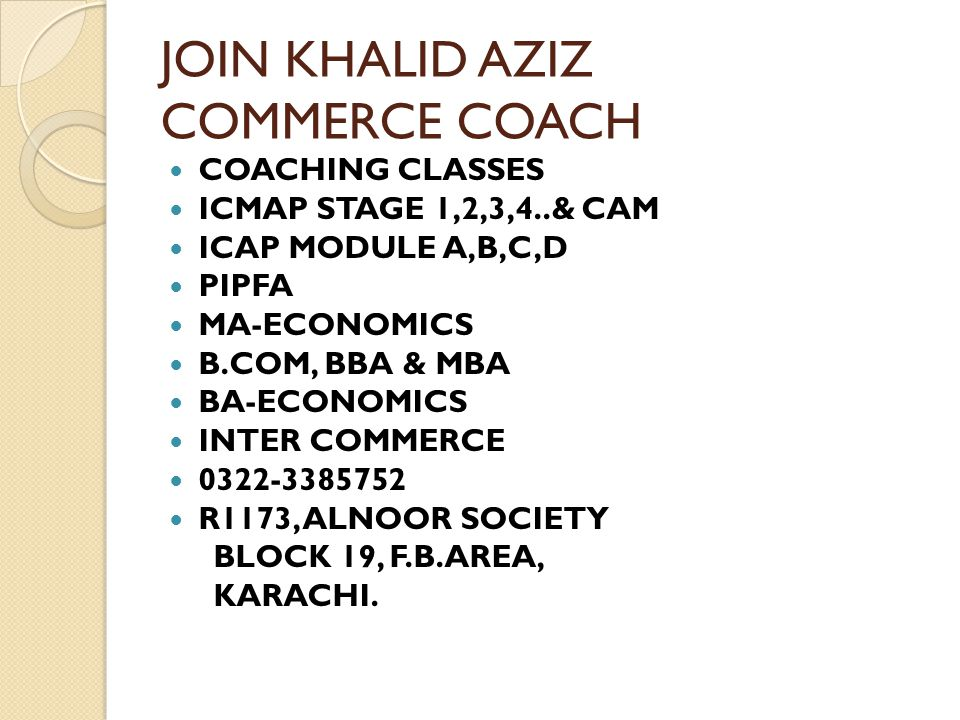 JOIN KHALID AZIZ COMMERCE COACH