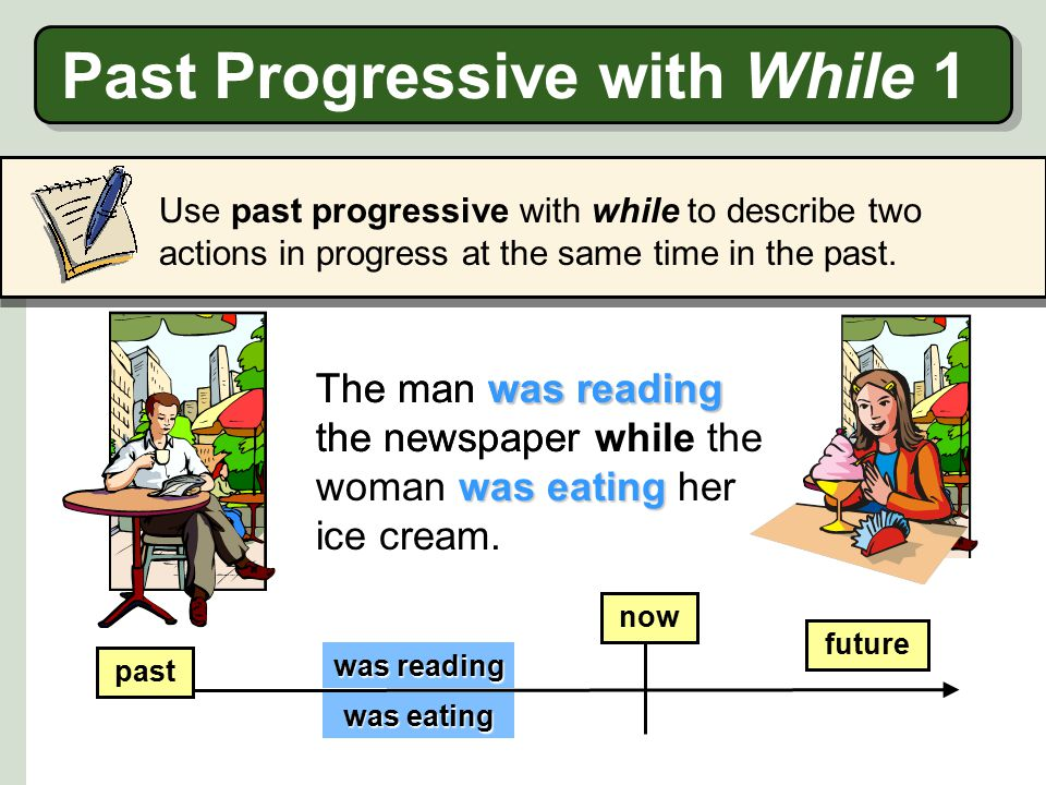 Past Progressive with While 1