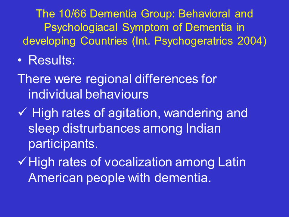 There were regional differences for individual behaviours
