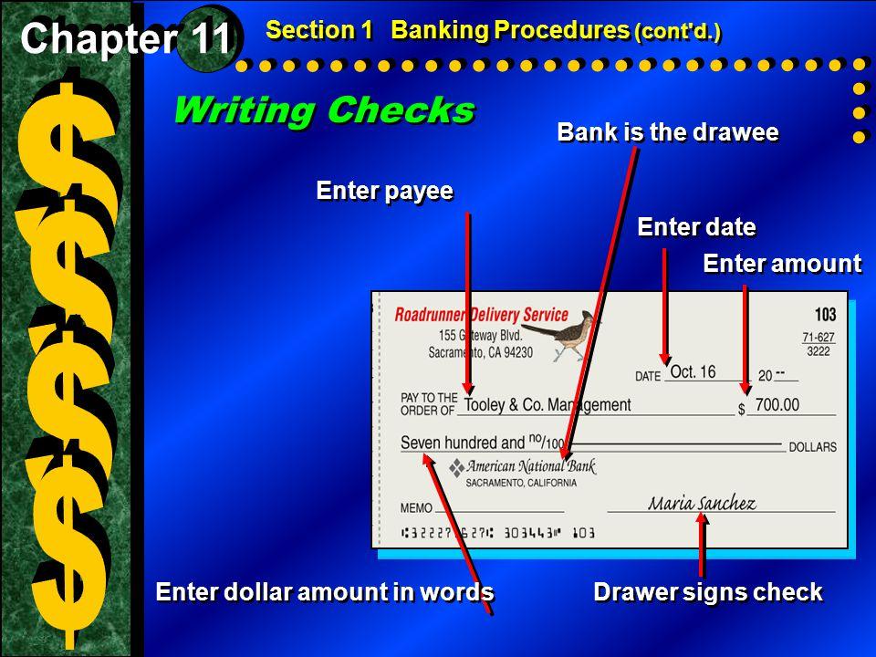 $ $ $ $ Writing Checks Chapter 11