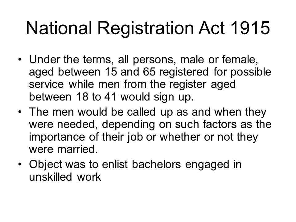National Registration Act 1915