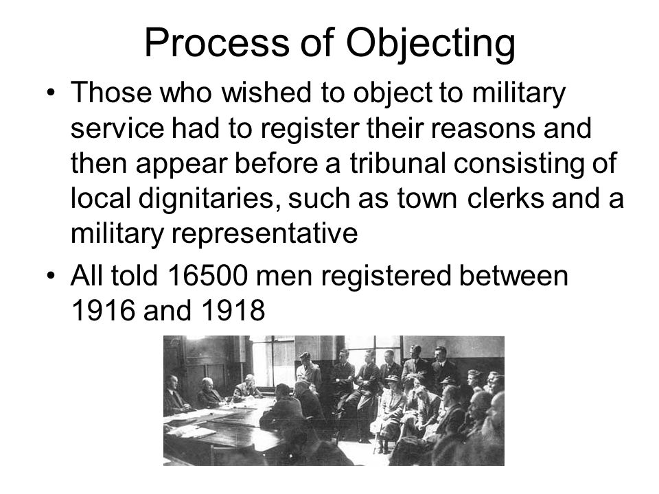 Process of Objecting