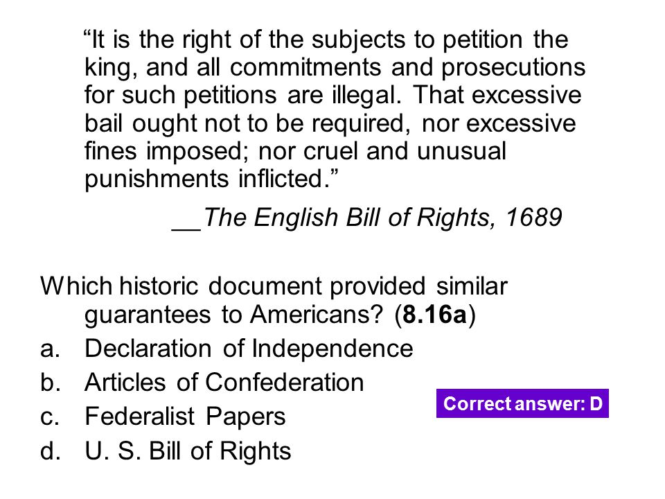 __The English Bill of Rights, 1689