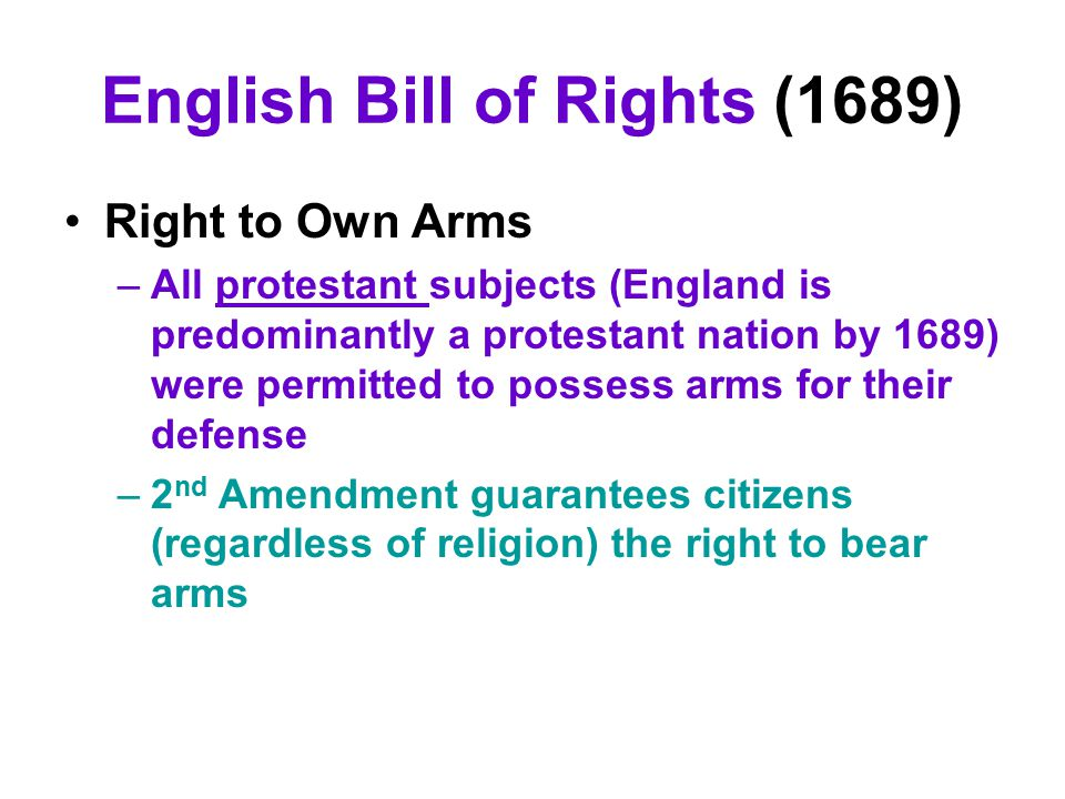 English Bill of Rights (1689)