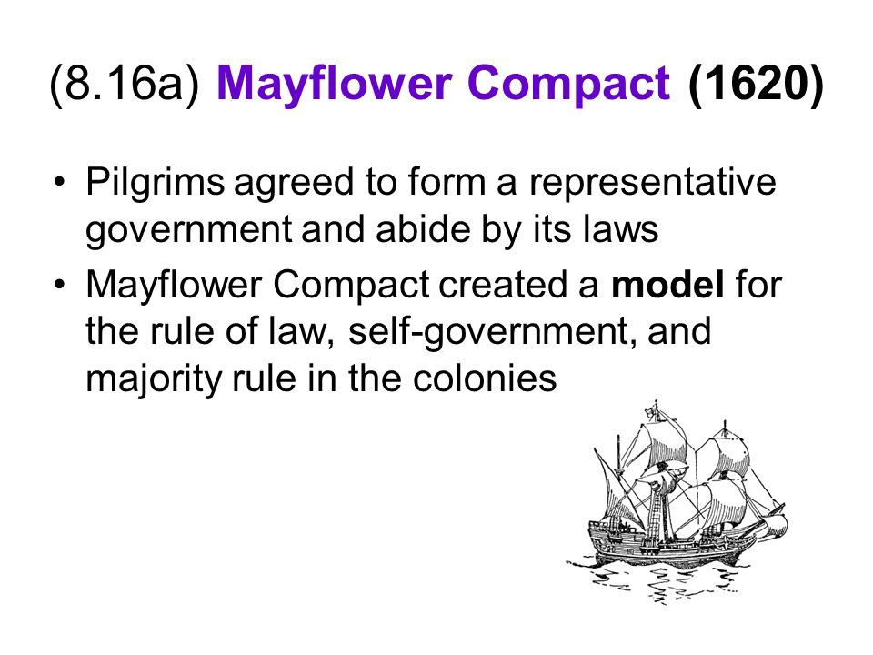 (8.16a) Mayflower Compact (1620)