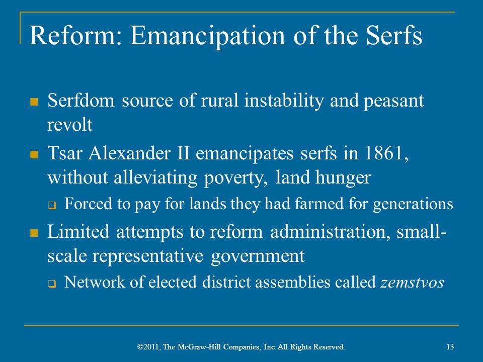 Reform: Emancipation of the Serfs