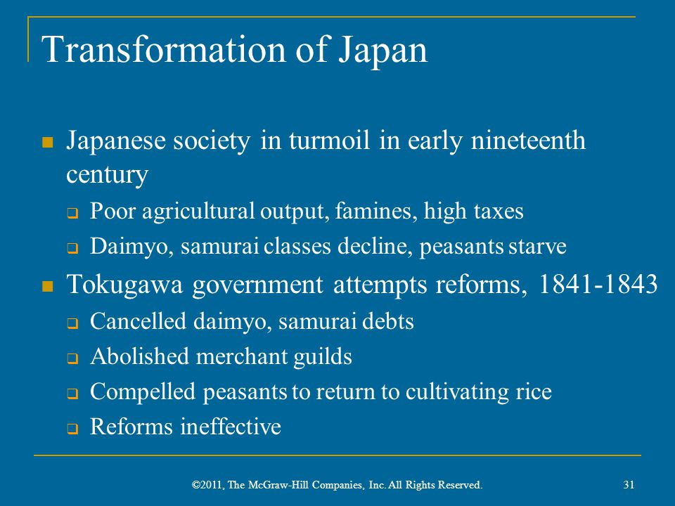 Transformation of Japan