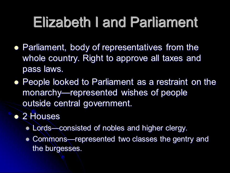 Elizabeth I and Parliament