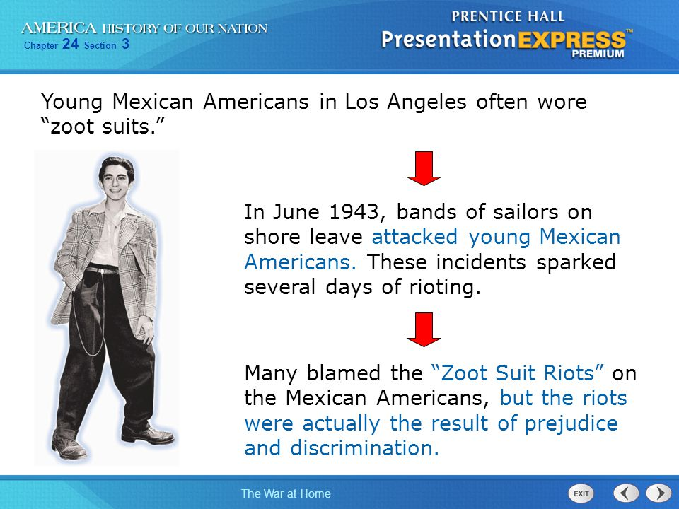 Young Mexican Americans in Los Angeles often wore zoot suits.