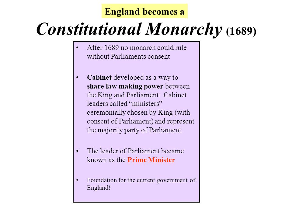 Constitutional Monarchy (1689)