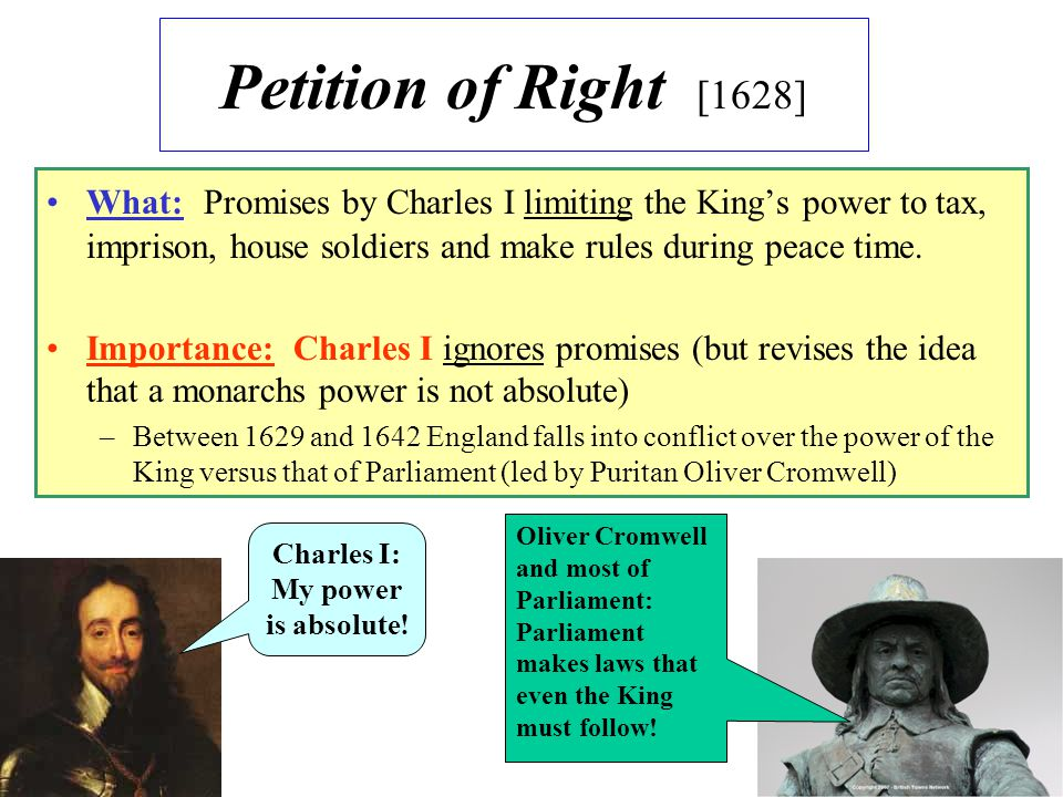 Charles I: My power is absolute!