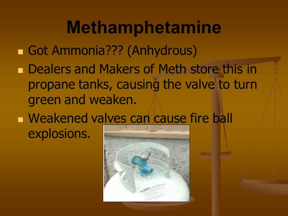 Methamphetamine Got Ammonia (Anhydrous)