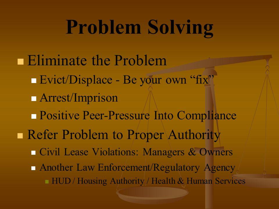 Problem Solving Eliminate the Problem