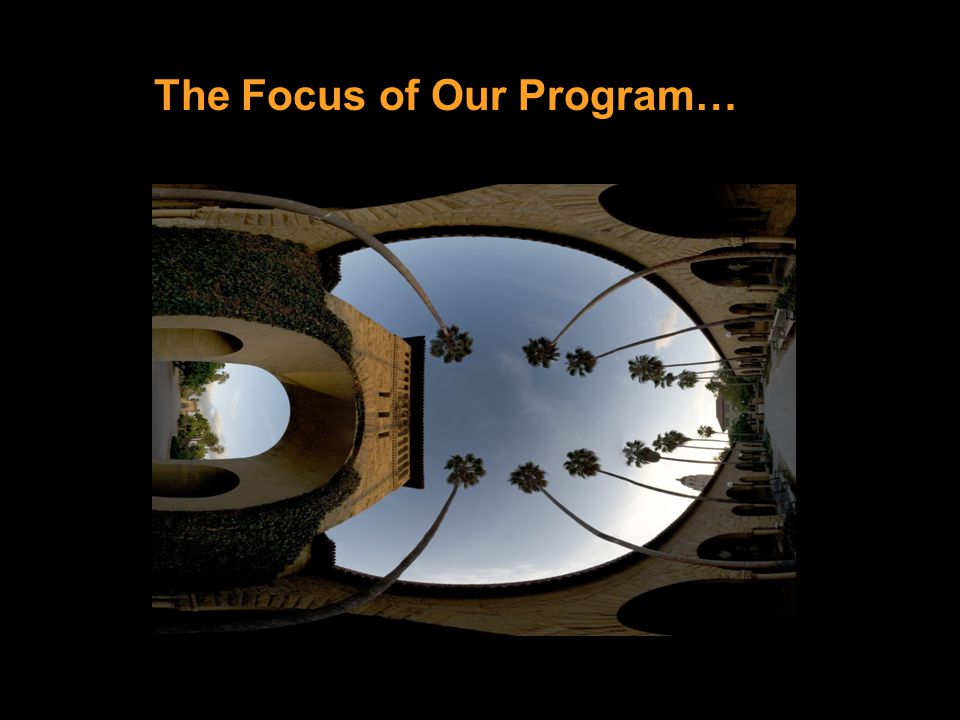 The Focus of Our Program…
