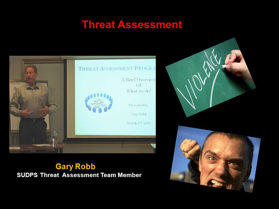 Threat Assessment Gary Robb SUDPS Threat Assessment Team Member