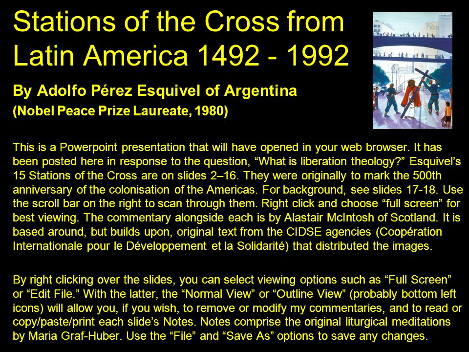 Stations of the Cross from Latin America 1492 - 1992