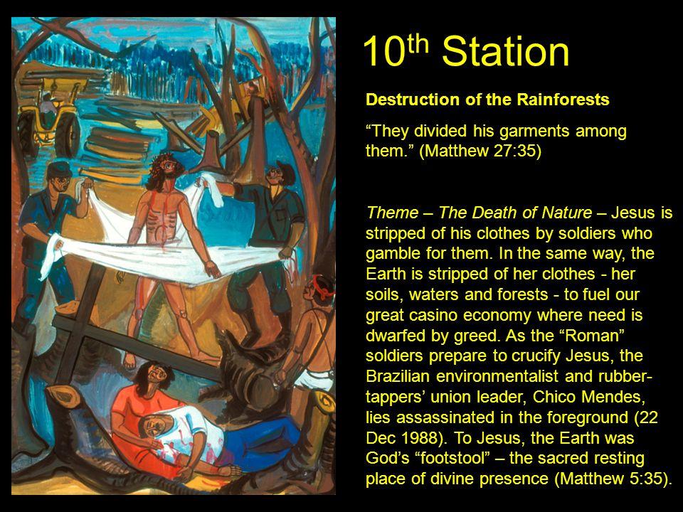 10th Station Destruction of the Rainforests