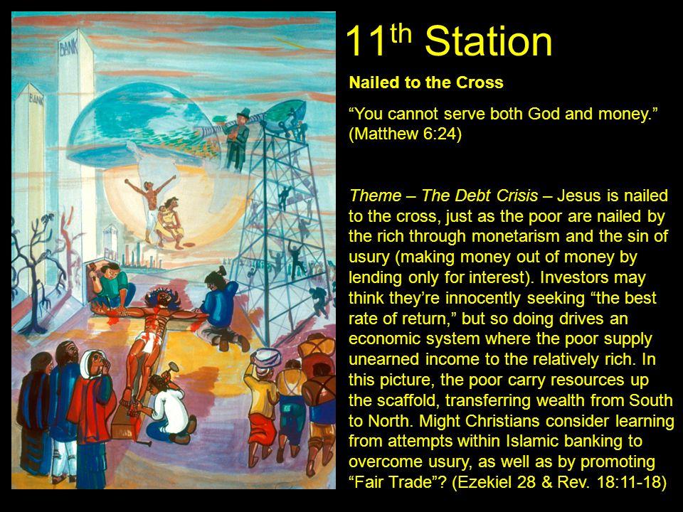11th Station Nailed to the Cross